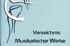 Verzeichnis Musikalischer Werke